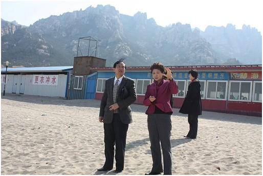 崂山区区委宣传部于惠霞部长及有关领导陪同付宝华院长在王哥庄国际